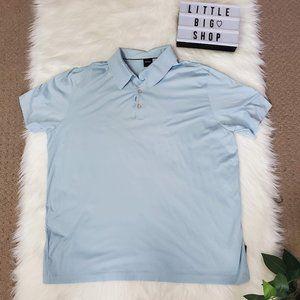 Men's Light Blue Hugo Boss Polo Shirt XXL